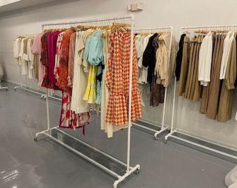 Plexi bottom clothing racks