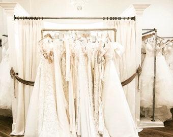 "72"" bridal wedding prom gown rack"
