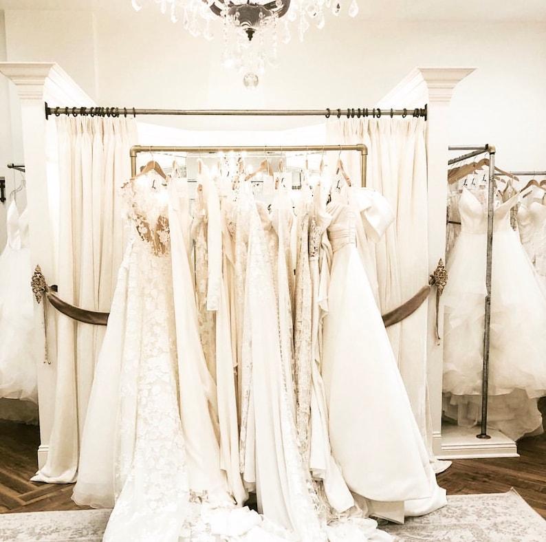 72 bridal wedding prom gown rack image 0