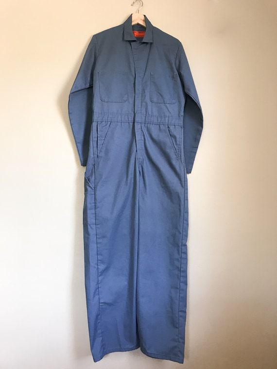60s Blue Workwear Coveralls | Large