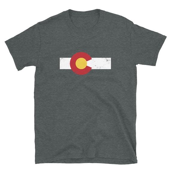 Colorado Flag Mountains Vintage Retro Colorful Version Gildan Hoodie Sweatshirt