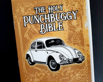 The Holy Punchbuggy Bible - a zine about the punch buggy game with rules and scorecard for you and friends