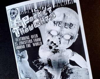 Pocket Thoughts Annual #3 - a collab zine featuring art, poetry, writing, comics, and more by over 25 zinesters from around the world!