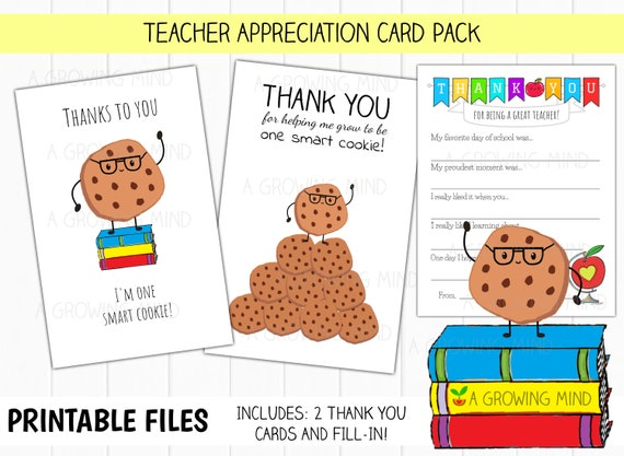 photo about Printable Teacher Appreciation Card named PRINTABLE Instructor Thank On your own Card, Conclusion of Yr Instructor Appreciation, Printable Fill in just Trainer Card, 100th Working day of College