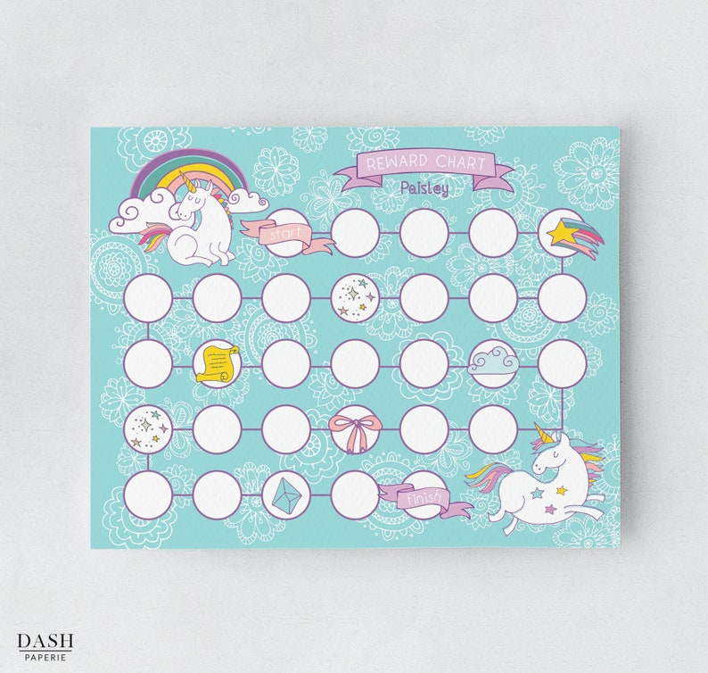 photo relating to Sticker Chart Printable identified as Unicorn Profit Chart, Printable Chore Chart, Custom-made Sticker Chart, Unicorn Potty Doing exercises Chart, Unicorn Young children Routines Chart, DP-002