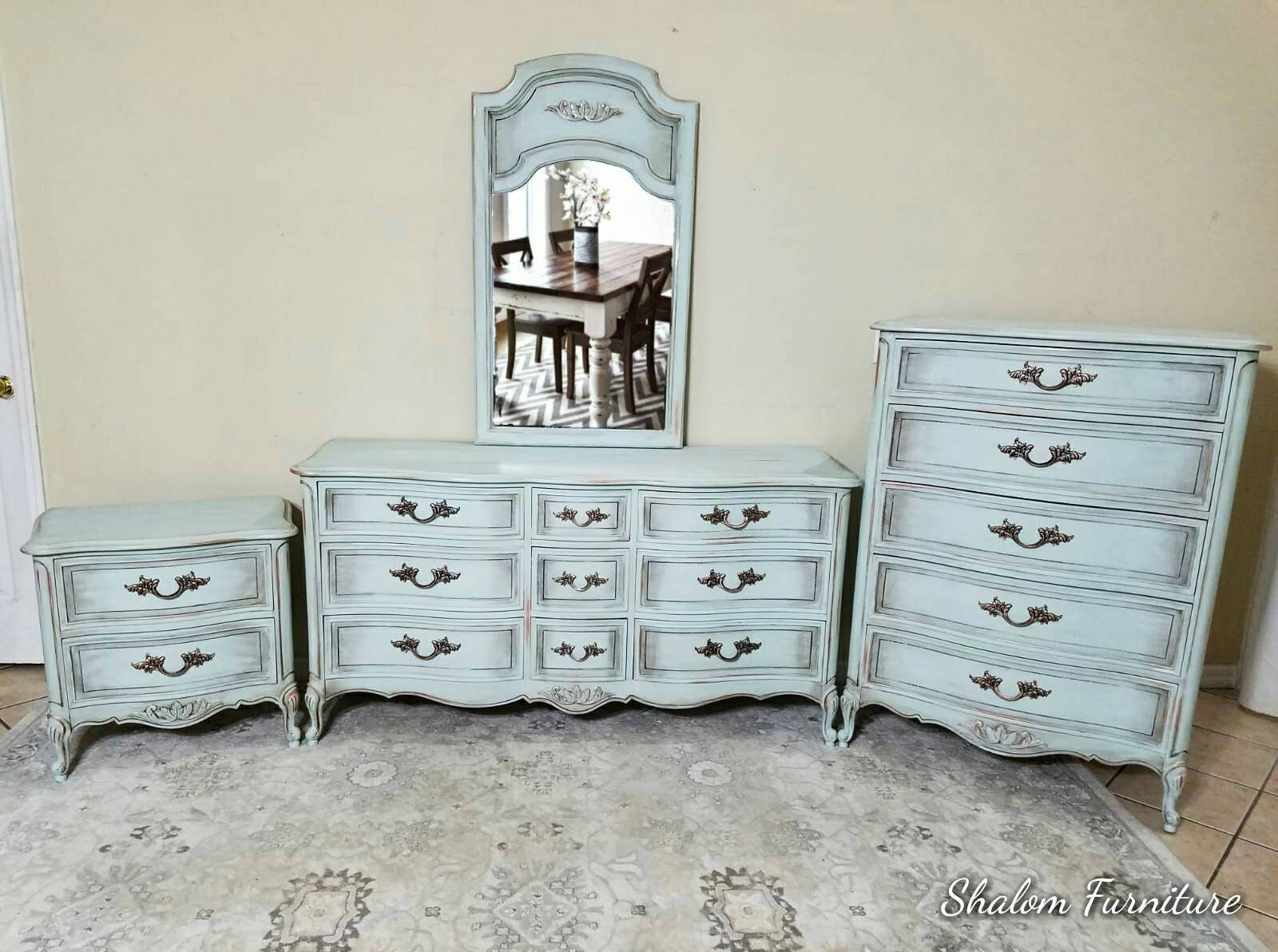 On sale!Available! Shabby chic farmhouse, rustic, antique  dresser, armoire, bedroom set, hutch, chest of drawers tall boy french provincial for sale