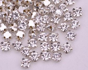 1440pcs SS12 16 18 20 24 Sewing Clear Glass Crystals Silver Gold Base Claw  Rhinestones Flatback AB Crystal Stones Sew On Strass Beads 2f2a77767c9e