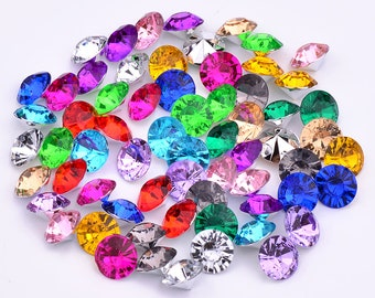 JUNAO 3 6 8 10mm Mix Color Point Back Acrylic Rhinestones Round Nail Art  Stones Clear AB Crystals Strass Gems for Clothes Jewelry Crafts 74a9a982b1fe