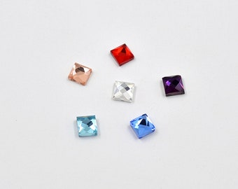 100pcs 6mm 8mm 10mm Clear Glass Crystals Square Rhinestones Flatback Stones  Glue On Glass Crystal Beads For DIY Clothes Jewelry Crafts 22e53b2ff300