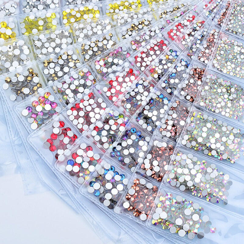 1100pcs Crystal Flat Back Acrylic Rhinestones Gems 3mm Nail Art//Craft UK Seller!
