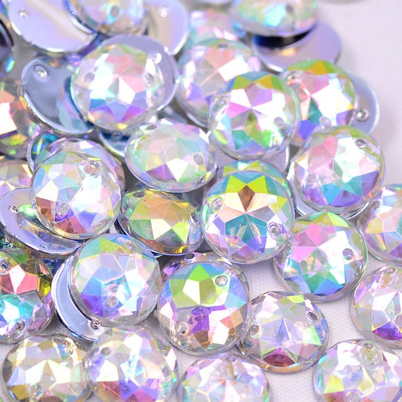 300pcs 12mm Sewing Crystal AB Round Rhinestones Flat Back  4a1d489de54f