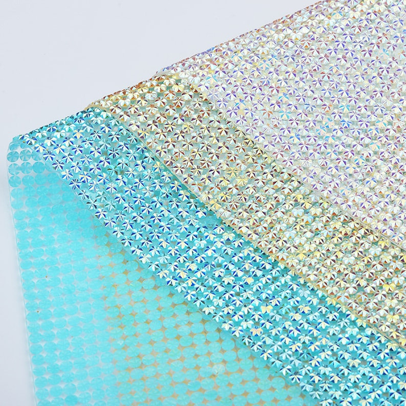 e08f7172ae 24*40cm Crystal AB Rhinestones Fabric Sheet Resin Crystal Mesh Appliques  Trim Hotfix Strass Banding For DIY Clothes Jewelry Crafts