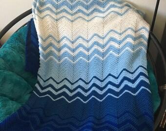 Blue Ombré Blanket