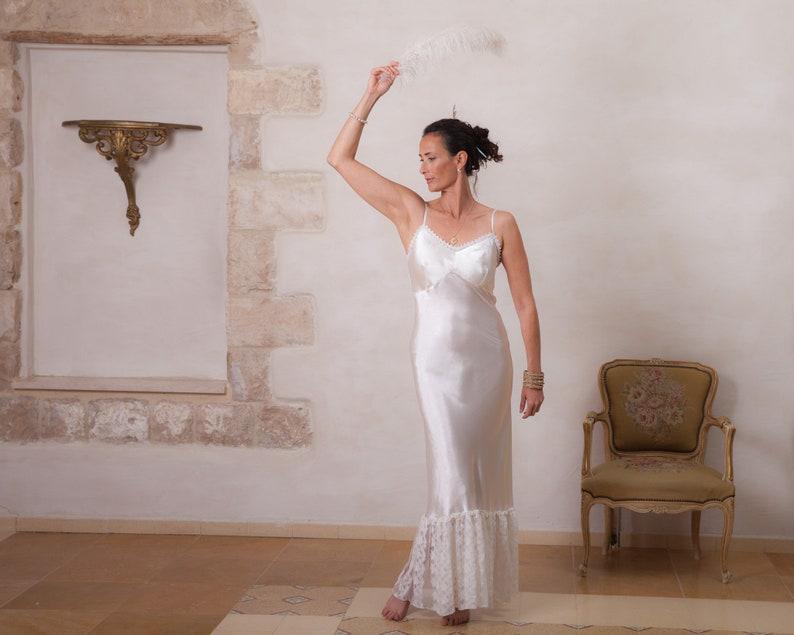 fbfe9a817ee Lace Dress Summer Silk Dress Boho Satin Dress Lace