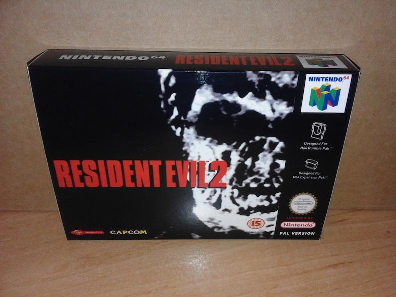 RESIDENT EVIL 2 (Nintendo 64) (Repro Box) (Only Box)