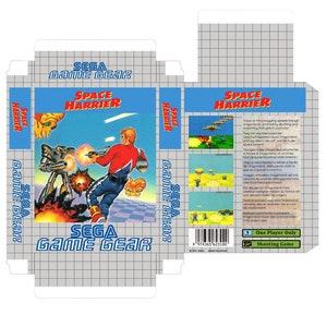 POWER STRIKE II Only Box Game Gear Repro Box