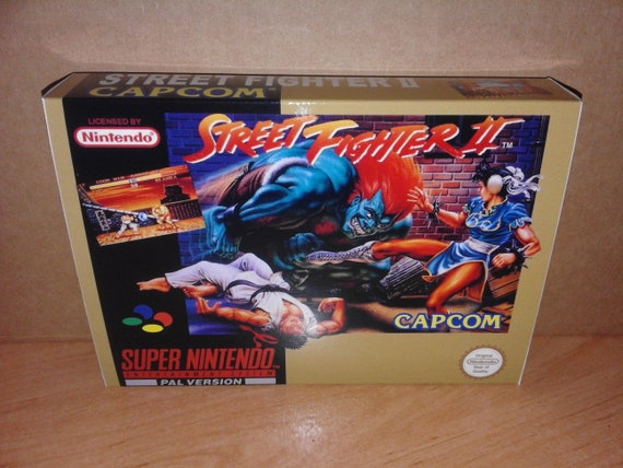 Street Fighter Ii Snes Repro Box Only Box Insert Etsy