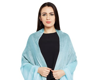 Tiffany Blue Cashmere Scarf - Hand Woven