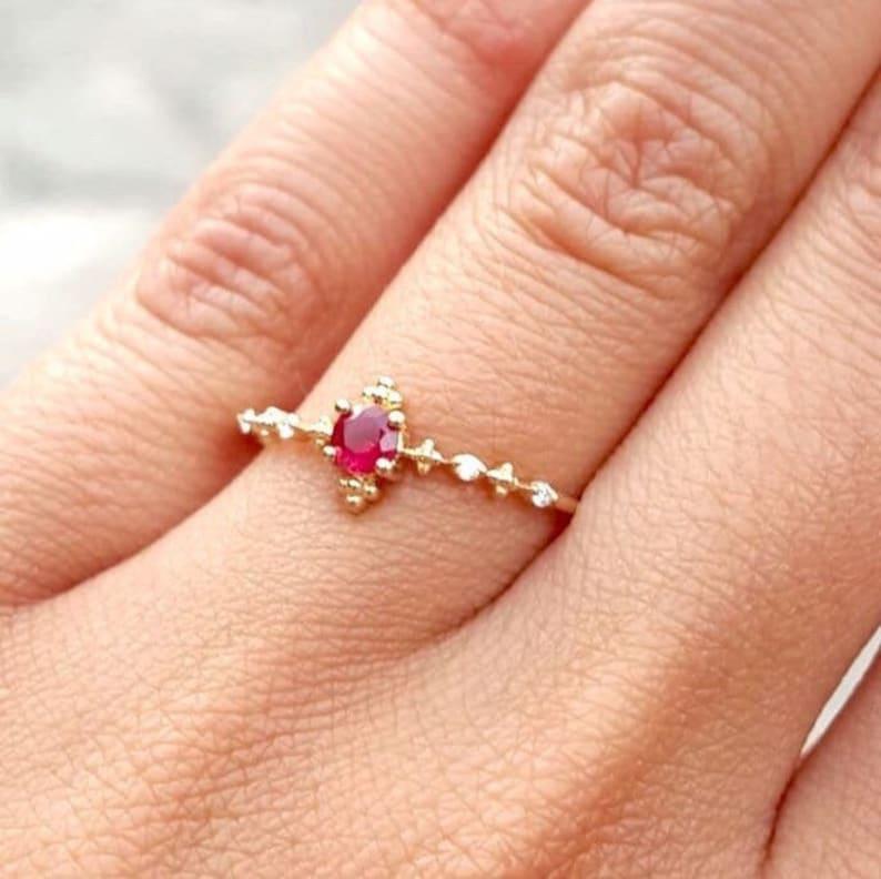 Natural Small 0.25 ct Ruby Ring