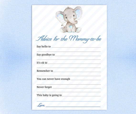 5x7 /& 8x10 Advice Sign Printable Baby Shower Advice Cards Baby Advice Cards Printable Advice Cards PDF WLP-ELE 103 Instant Download