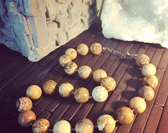 Necklace «JOKI» natural stone Jasper