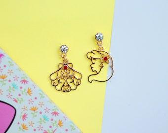 Ariel earrings - The Little Mermaid earrings, Disney earrings, Disney jewelry, Disney jewelry gifts, Disney gifts, little Mermaid jewelry
