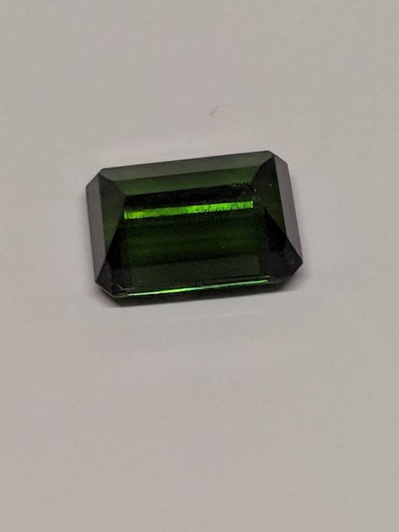 Tourmaline faceted gem