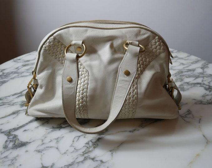 YSL Muse White Handbag