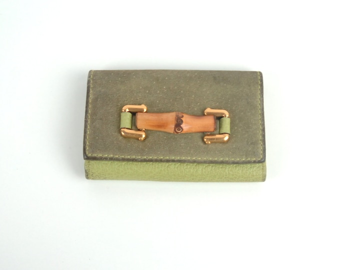 Vintage Gucci Bamboo Key Case