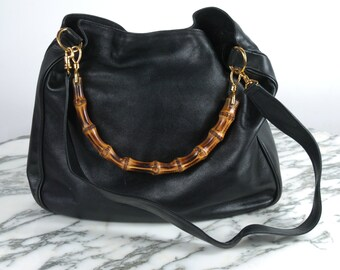 82dae0b8473b Vintage Gucci Bamboo Handbag