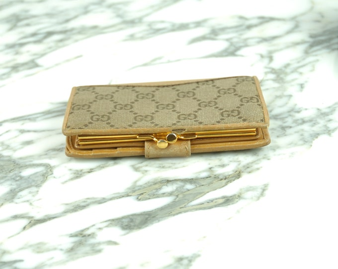 Vintage Gucci Monogram Wallet/Coin Purse