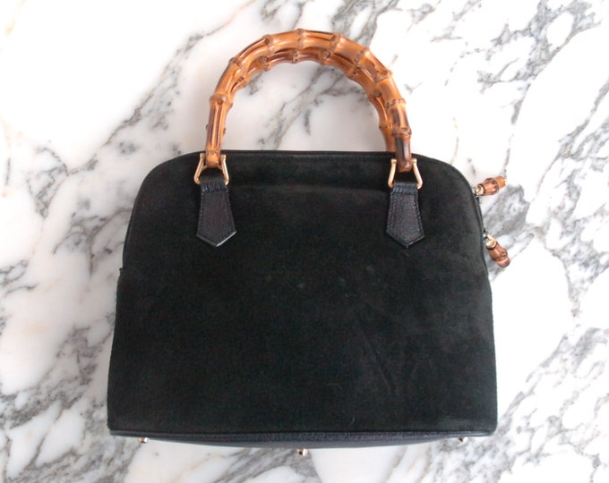 Vintage Gucci Suede Leather Handbag