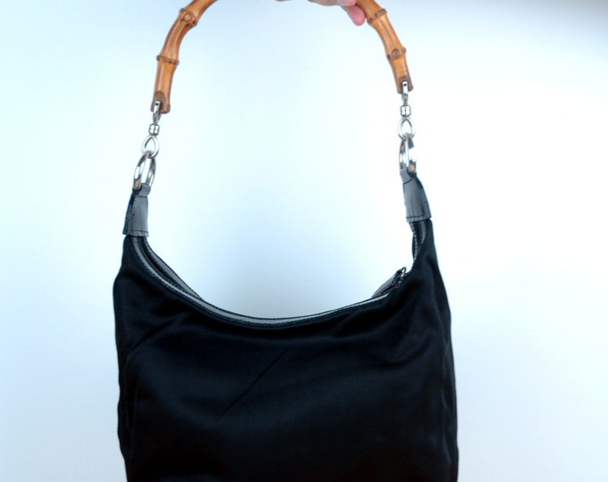 Vintage Gucci Bamboo Handbag/Shoulder Bag