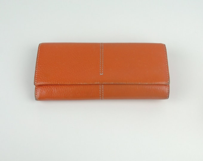 Tods Orange Wallet