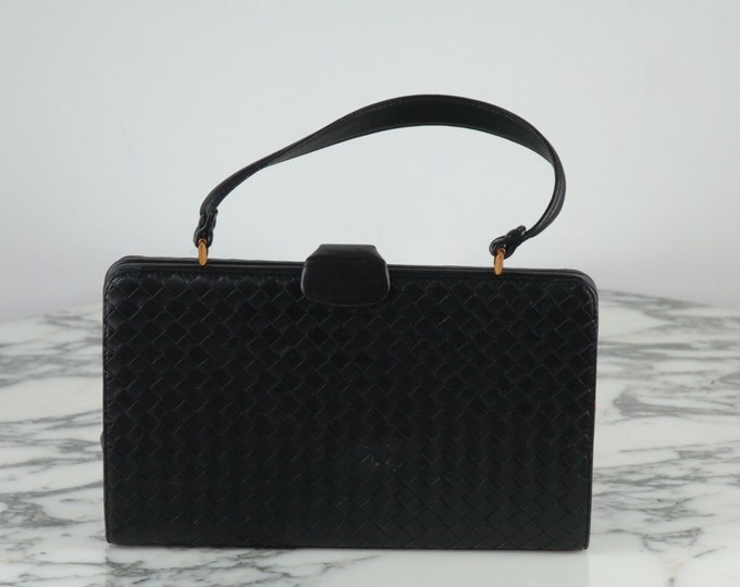 Bottega Veneta black purse