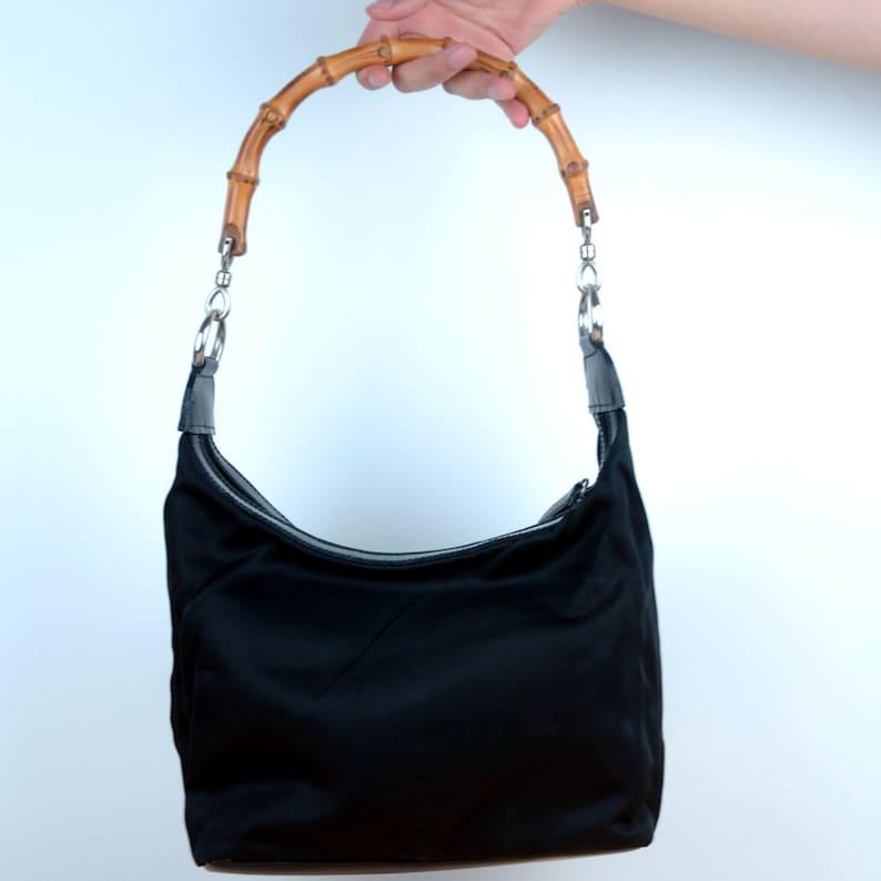 eabf76ed8d2 Vintage Gucci Bamboo Handbag Shoulder Bag