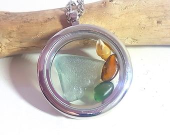 Sea glass locket (1)