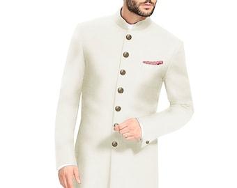 Indian Dress Ethnic Sherwani for Men Wedding Jodhpuri Achkan Bandhgala Traditional Jacket Reception Designer Coat Ethnic Suit Dress