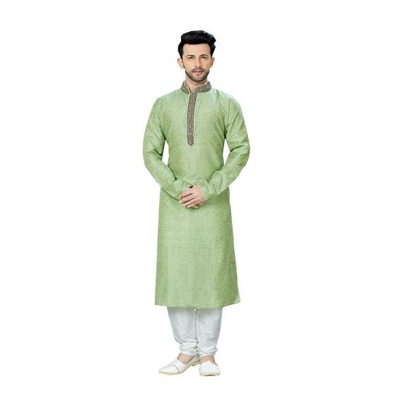 Fertige Indische Kurta Pyjama Fur Manner Hochzeit Party Etsy