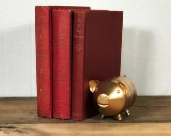Ruby Red Vintage Book Trio