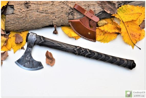 Physical Viking Axe Noble Leader-Rune Inguz is a symbol of Internal growth mental spiritual. Silver Anniversary Art gift emotional