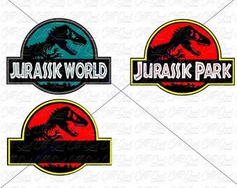 Personalize Your Own Jurassic Park Logo SVG PNG JPEG Digital File World