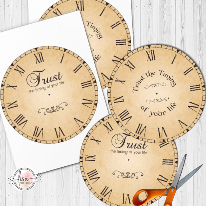 photograph regarding Printable Clock Faces for Crafts identify Common CLOCK Deal with Printable - Motivational estimate print decor do it yourself craft electronic collage sheet clipart go substantial jpj circle 7.5 inch