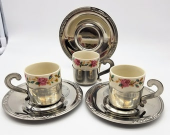 Details about Genuine Italian army air force Porcelain Italy espresso coffee cup and saucer