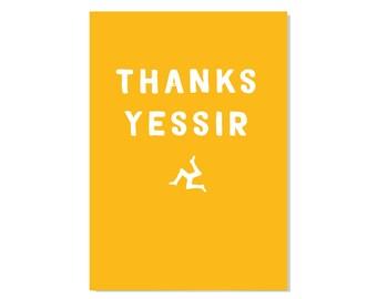 Thanks Yessir - Greeting card