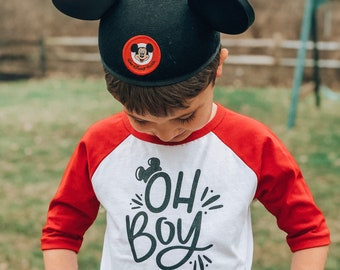 Oh Boy toddler | youth baseball tee