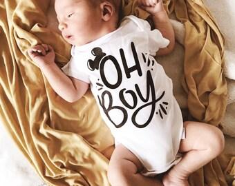 Oh Boy Baby Onesie