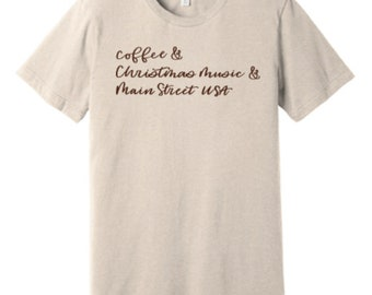 Coffee Christmas Music Main Street Tee