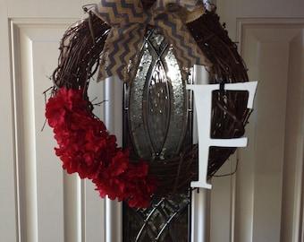 Initial Handmade Door Hanger
