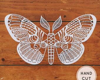 Moth Papercut - Handcut